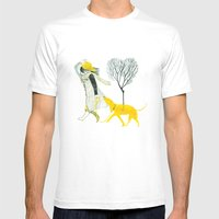 LOVE AND DOGS Mens Fitted Tee White SMALL