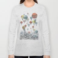 Long Sleeve T-shirt featuring Voyages Over Edinburgh by David Fleck