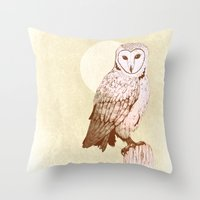 Barn Owl recolour Throw Pillow