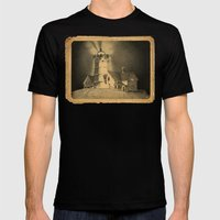 Night Light Mens Fitted Tee Black SMALL