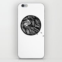 Circle Lady 1 iPhone & iPod Skin