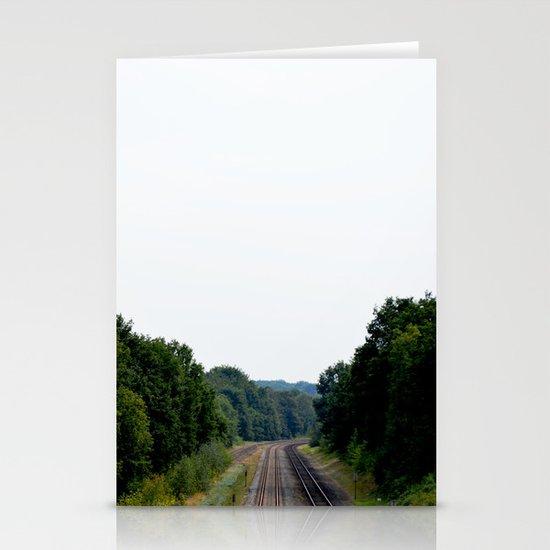 Tracks Stationery Card