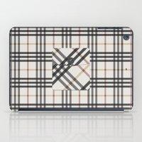 Plaid Pocket - White / B… iPad Case