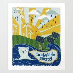 Sustainable stuff Art Print