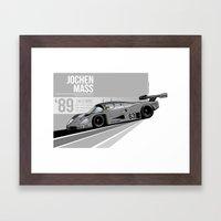 Jochen Mass - 1989 Le Mans Framed Art Print