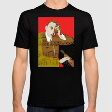 Sergei Rachmaninov Black Mens Fitted Tee SMALL