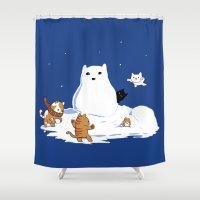 Snowcat Shower Curtain