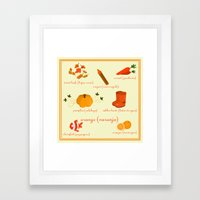 Colors: orange (Los colores: naranja) Framed Art Print