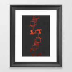 DIGITAL BURN Framed Art Print
