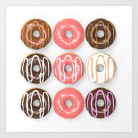 So Many Donuts Art Print