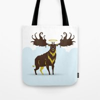 God's Zoo: Irish Elk Tote Bag
