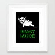 Beast Mode Pug Framed Art Print