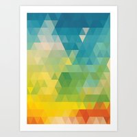 Colorful Days Art Print