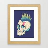Skull Punk Framed Art Print