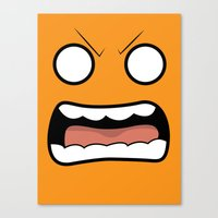 Scary Face Canvas Print