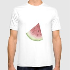 Watermelon Mens Fitted Tee White SMALL