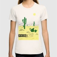 Man & Nature - The Deser… Womens Fitted Tee Natural SMALL