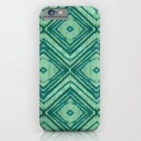 watercolor diamond seafoam green iPhone 6 Slim Case