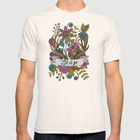 Let it go Mens Fitted Tee Natural SMALL