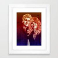 birds of love Framed Art Print