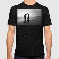 Beach // Love // Dance Mens Fitted Tee Tri-Black SMALL