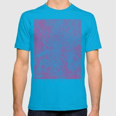 Madrid Map Lilac Mens Fitted Tee Teal SMALL