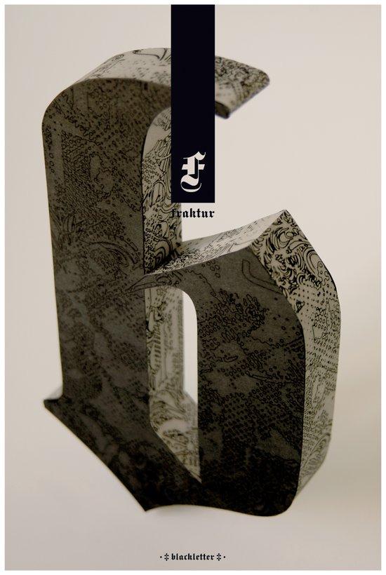 Blackletter Art Print