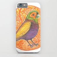 iPhone & iPod Case featuring Bird in a Thicket by fluffco