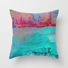 Turquoise Ocean Throw Pillow