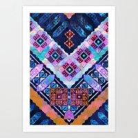 Mavis Chevron Art Print