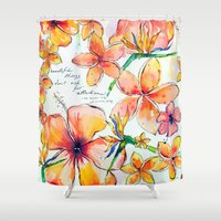 Beautiful tropical things Shower Curtain