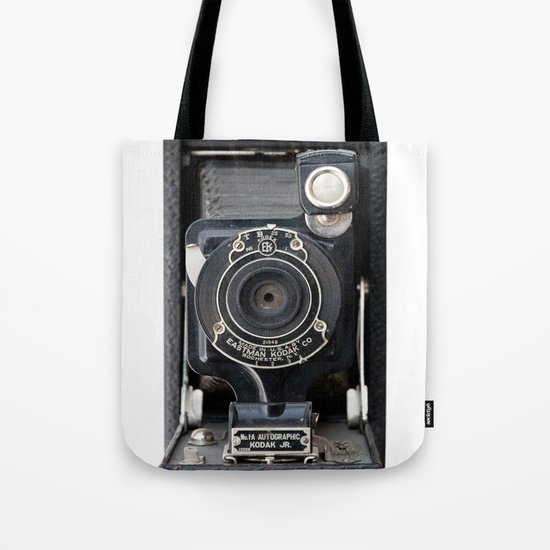Vintage Autographic Kodak Jr. Camera Tote Bag