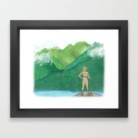 Explorer Girl Framed Art Print
