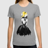 Little Black Bow Womens Fitted Tee Tri-Grey SMALL