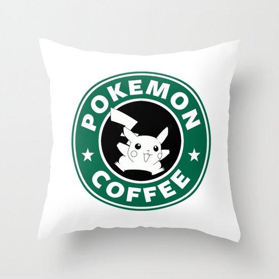Pokemon Coffee Throw Pillow