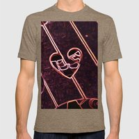 Heart Mens Fitted Tee Tri-Coffee SMALL