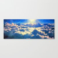 Over The Clouds - Painting Style Canvas Print