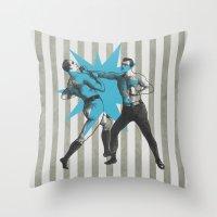 The Boxers Throw Pillow