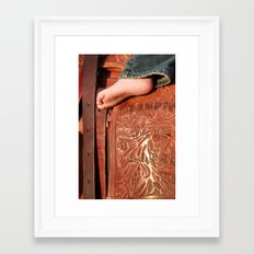 Big Boots To Fill Framed Art Print