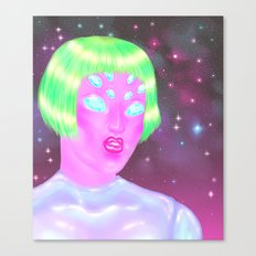 Crystal Alien Canvas Print