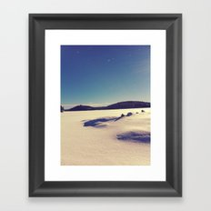 Kenisis Lake snow Framed Art Print