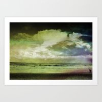 Occupy Beach Art Print