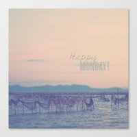 Happy Monday Canvas Print