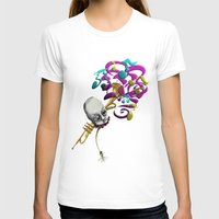Music to my Ears Womens Fitted Tee White SMALL