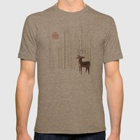 Reindeer of the Silver Wood Mens Fitted Tee Tri-Coffee SMALL