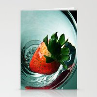 Fruity Strawberry Stationery Cards