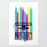 Typewriter Art Print
