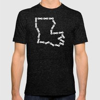 Ride Statewide - Louisiana Mens Fitted Tee Tri-Black SMALL