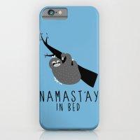 namast'ay in bed sloth iPhone 6 Slim Case