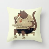 Throw Pillow featuring Hungry Like The Wolf by Louis Roskosch